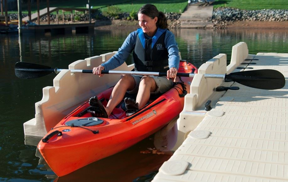 Photo of woman in EZ Kayak Launch