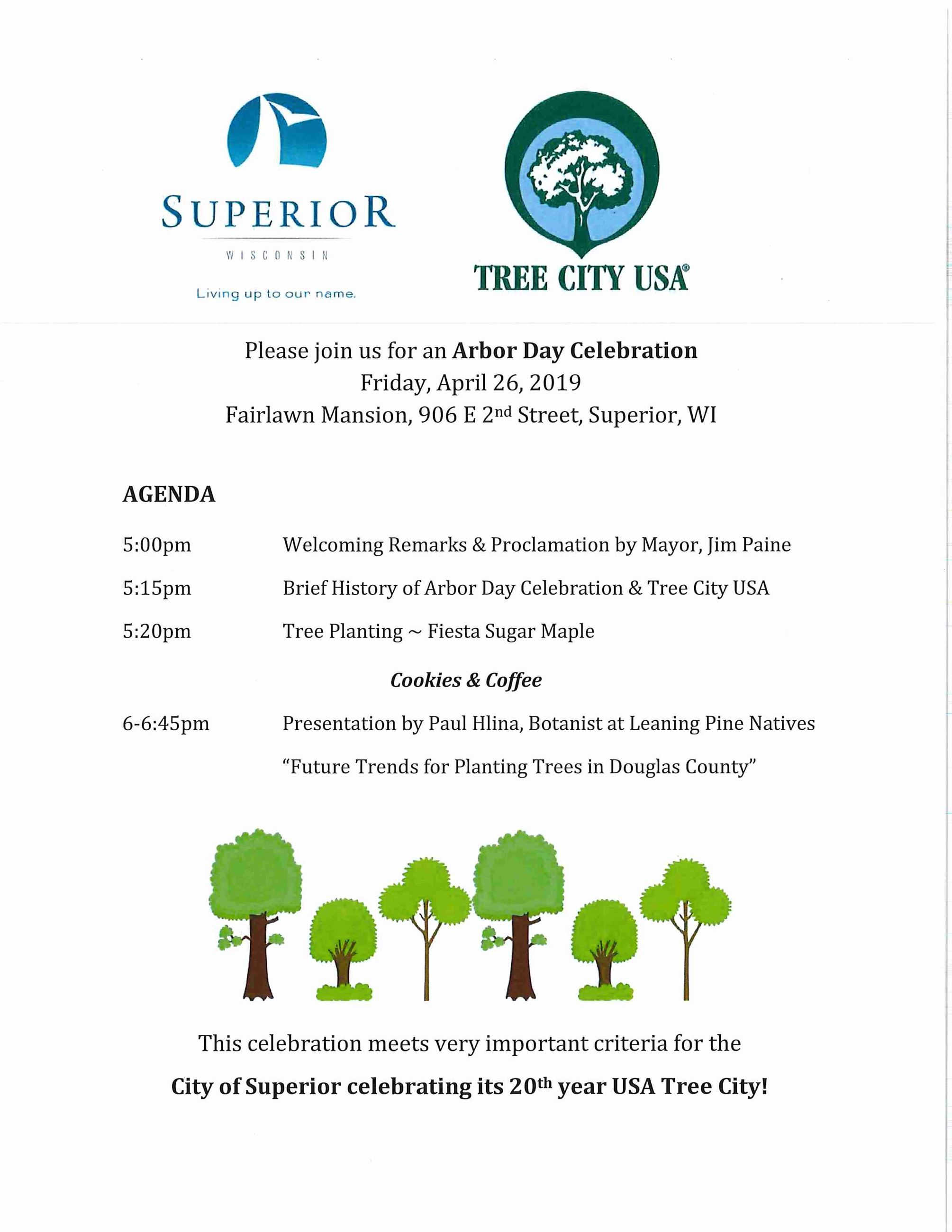 Arbor Day 2019 invitation