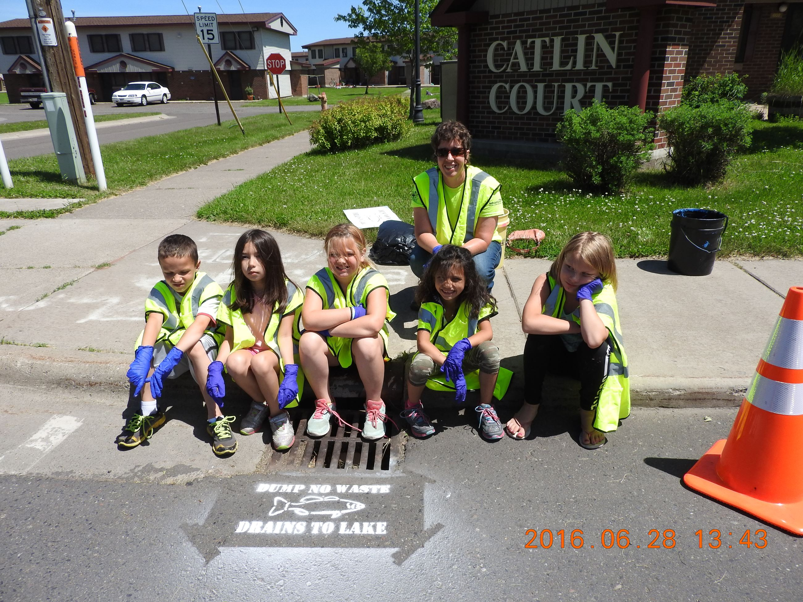 Boys and Girls Club of Superior - Storm Drain Stenciling