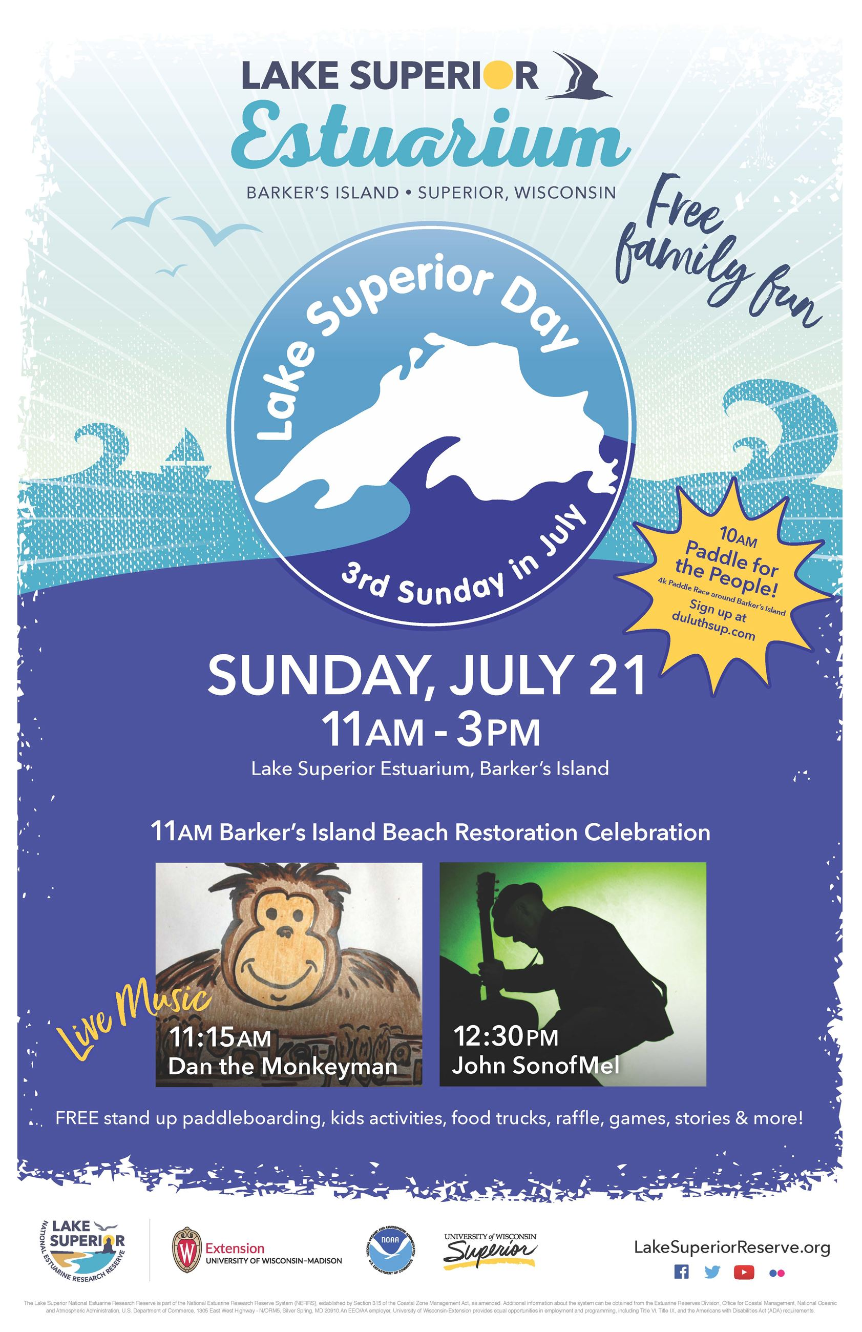 2019 lake superior day poster