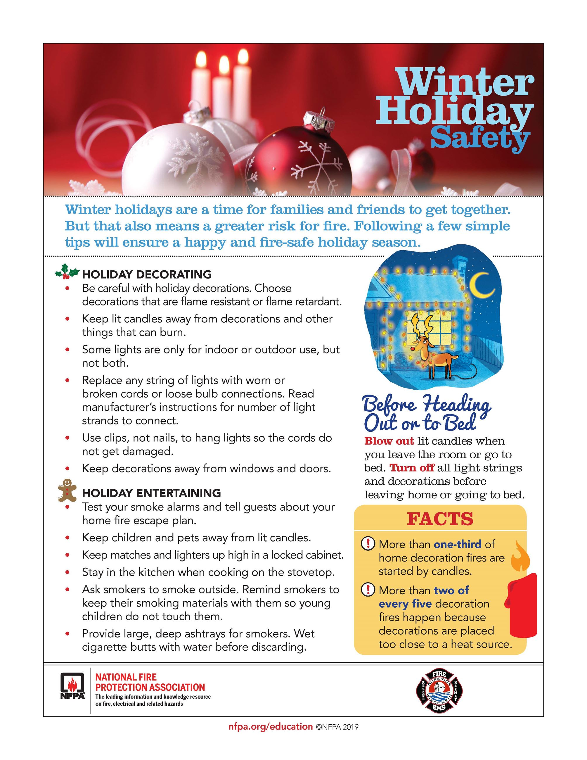 Winter Holiday Safety tip sheet